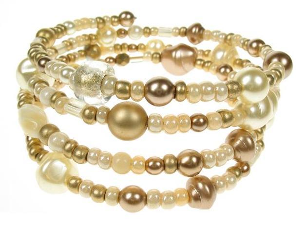 PINK 'Sahara' Memory Wire Wrap Bracelet
