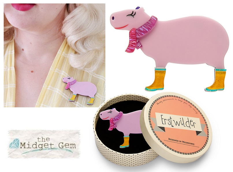Sara The Capybara - Erstwilder South American Socialite Brooch