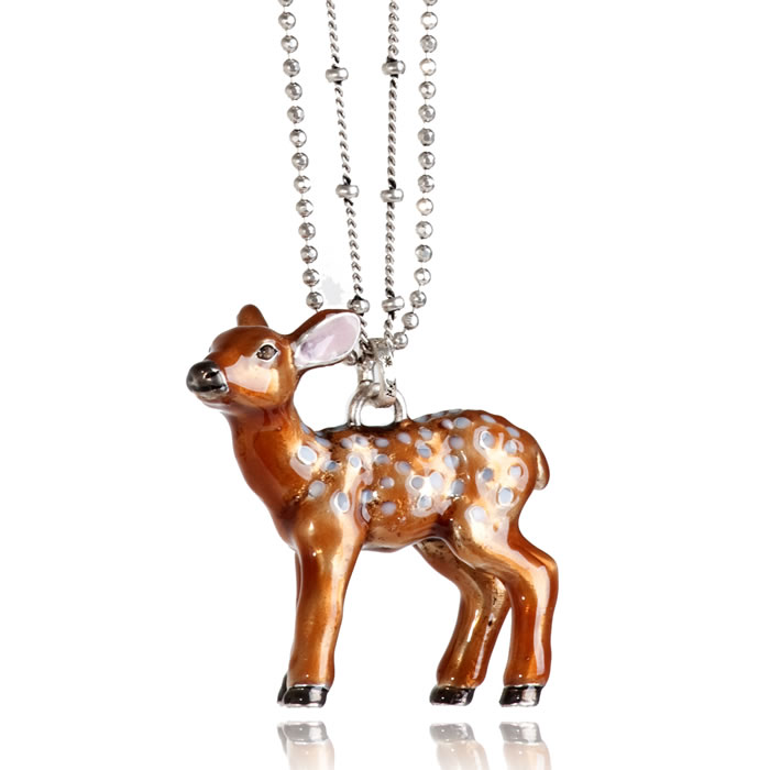 A & C - Large Bambi/Deer Pendant Double Chain