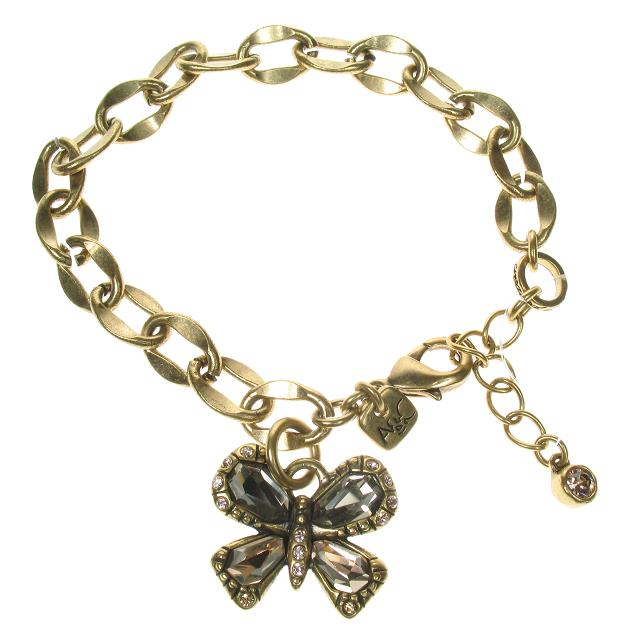 A & C Sweet Butterfly Adjustable Bracelet Gold Topaz