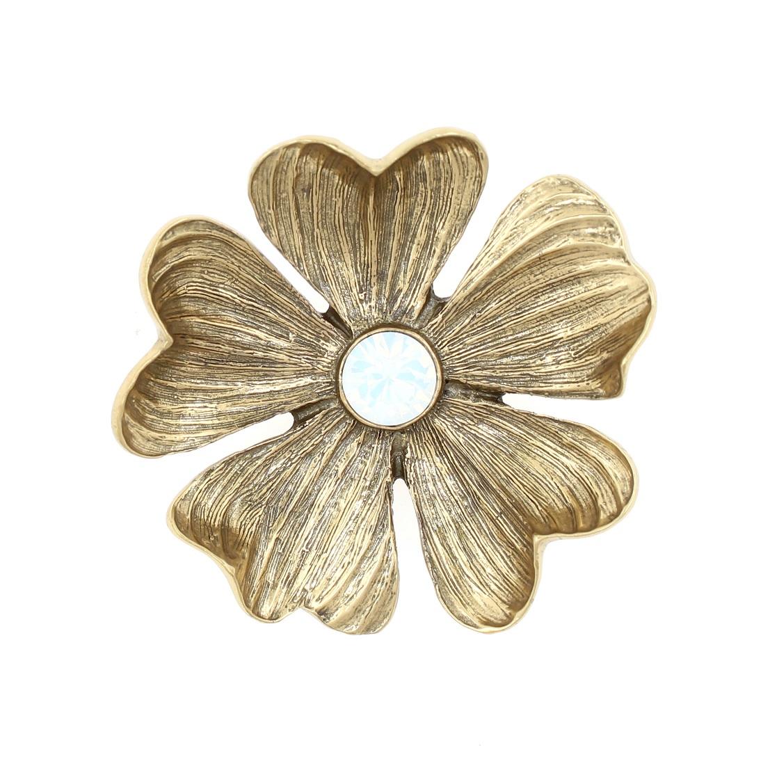 PILGRIM - Autumn's Finest - Flower Brooch - Gold/White BNWT