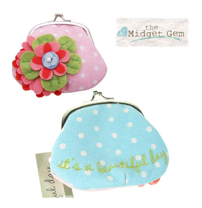 'Beautiful Day' Pastel Flower Corsage Clip Purse By Disaster Designs