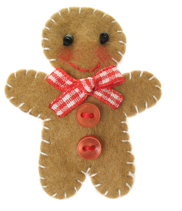 BOBBLELICIOUS Gingerbread Man Hair Clip