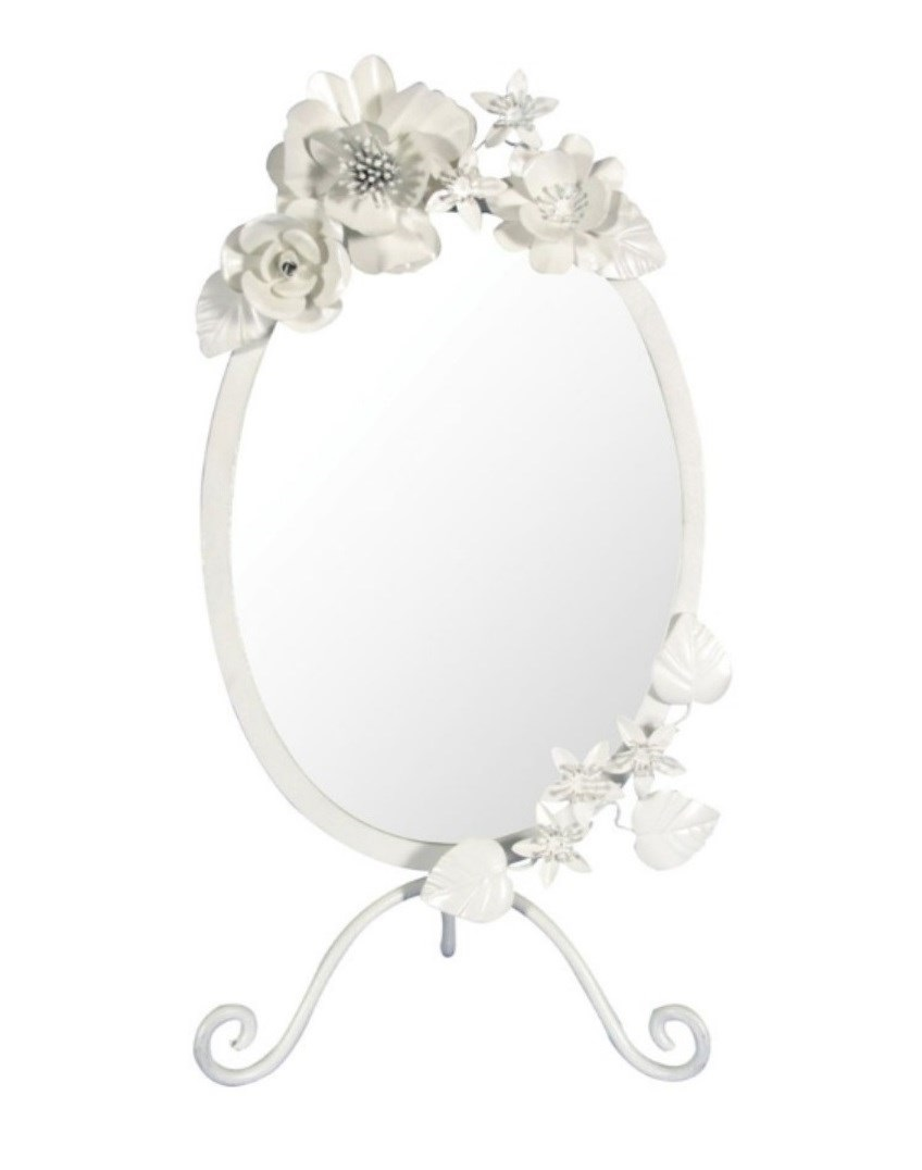 Bombay Duck - Cream Painted Metal Mirror - BNWT
