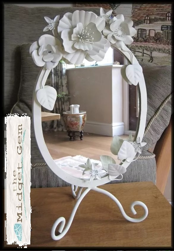 Bombay Duck - Cream Painted Metal Mirror - BNWT