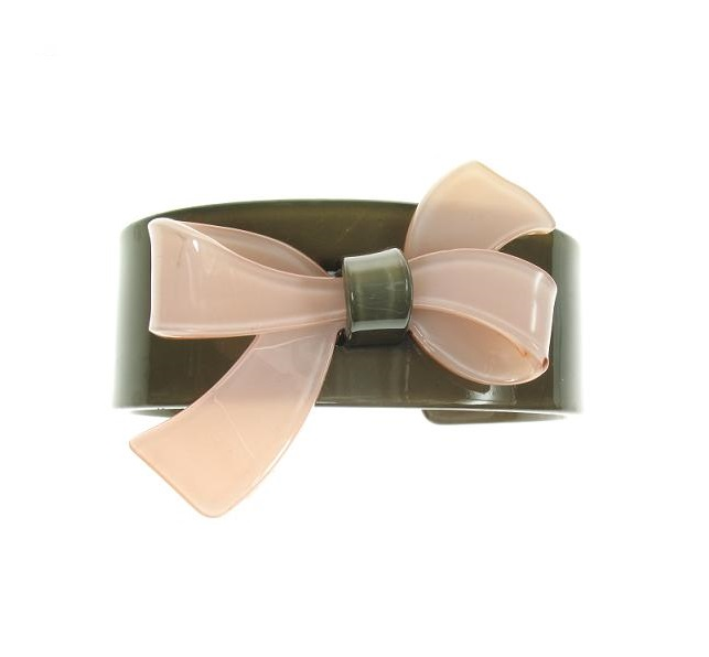 Slim Bow Pink & Grey Cuff - BIG BABY Bangle