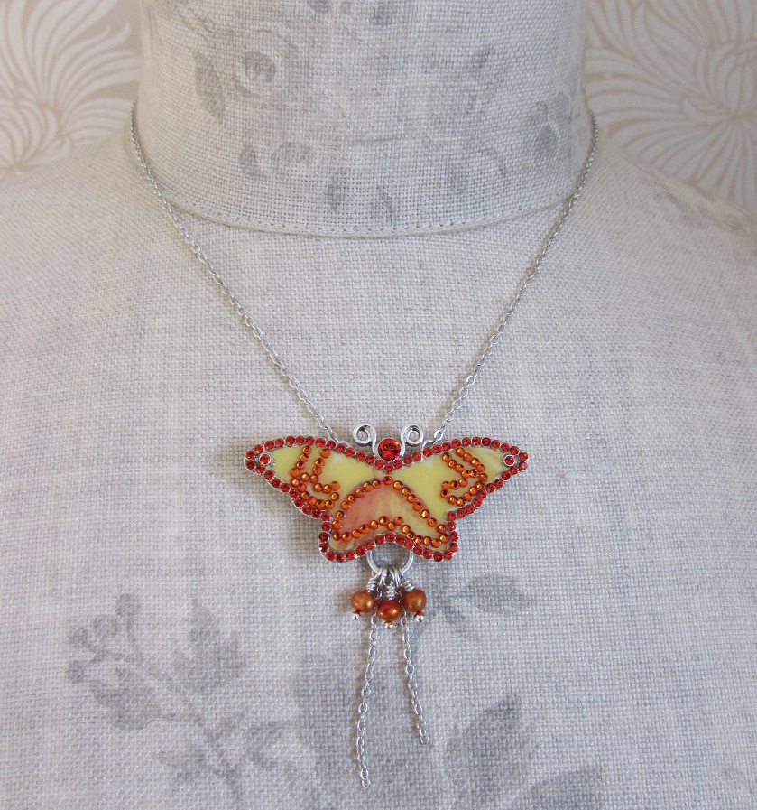 PILGRIM - Favourites - Single Butterfly Necklace - Silver/Brights BNWT