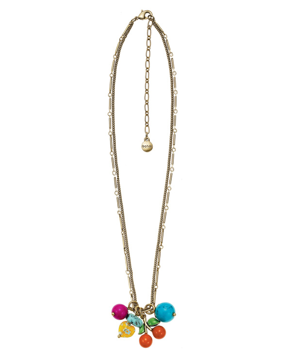 The Bohm Fruity Fruit  Cherry Charm Necklace