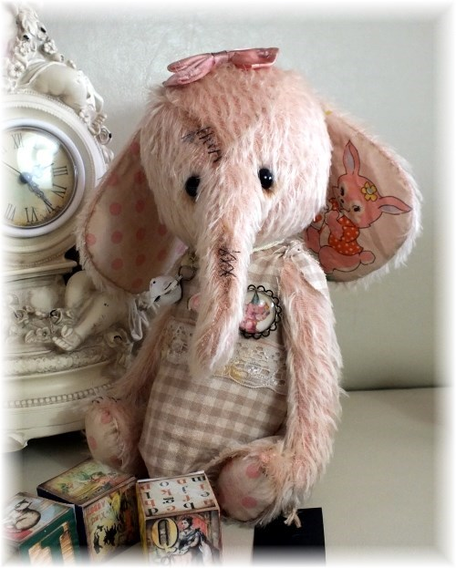 Cherry Pie - Cutie-Pie Pink Girly Elephant