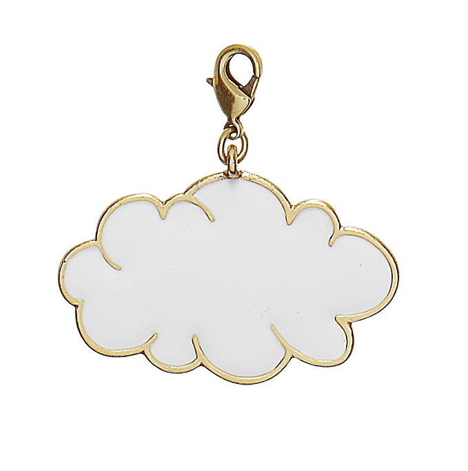 PILGRIM - Cloud Charm - White/Gold Plate BNWT