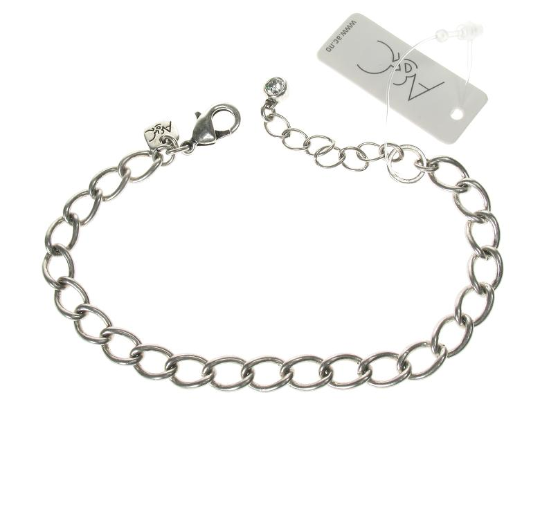 A & C Curb Link Bracelet For Clasp-on Charms