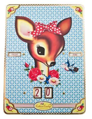 'Cotton Candy' Dearest Deer Perpetual Calendar - Fiona Hewitt