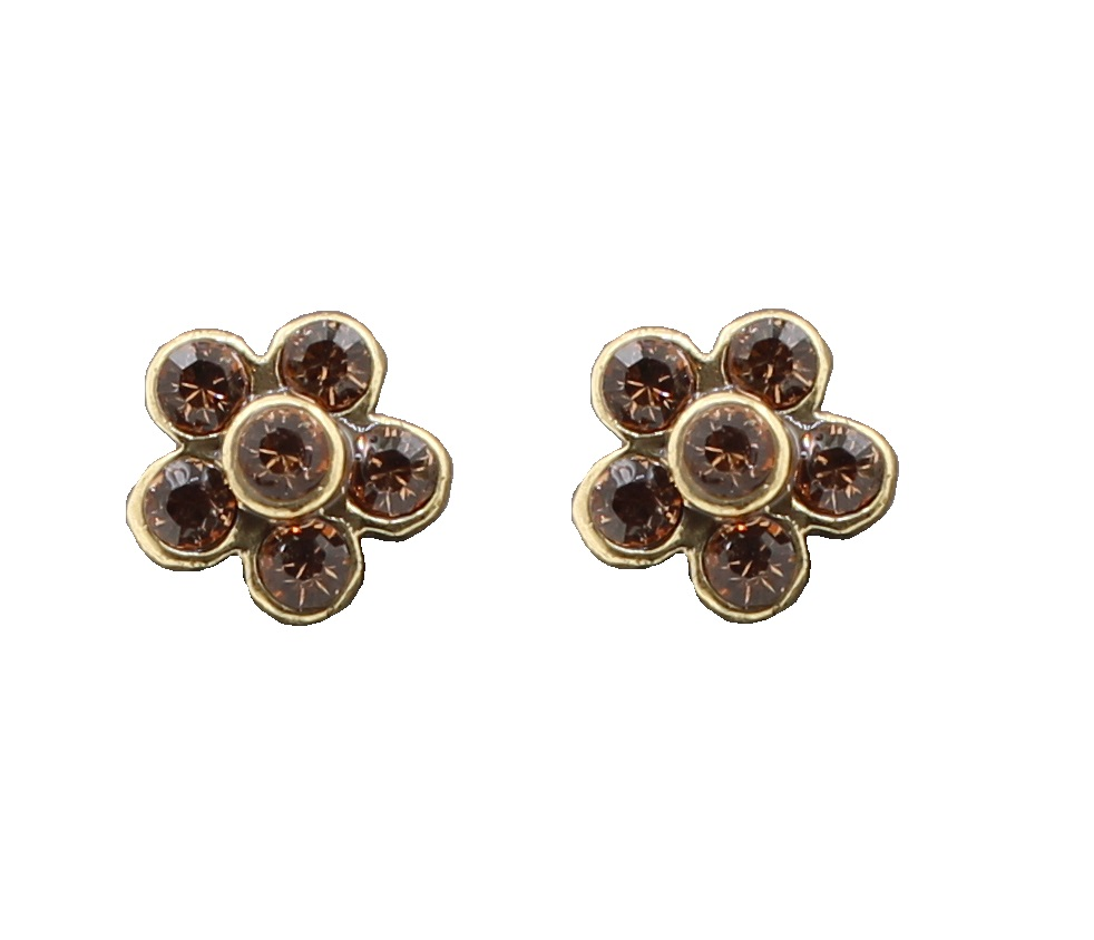 PILGRIM - Favourites - Stud Earrings Gold/Brown BNWT