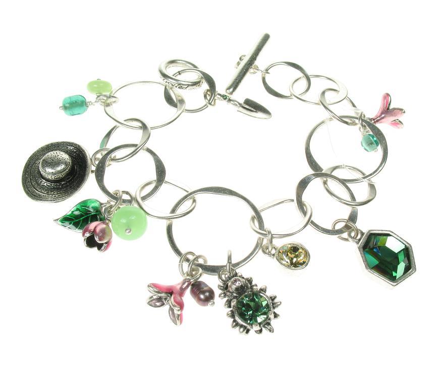 A & C Garden Charm T-Bar Bracelet