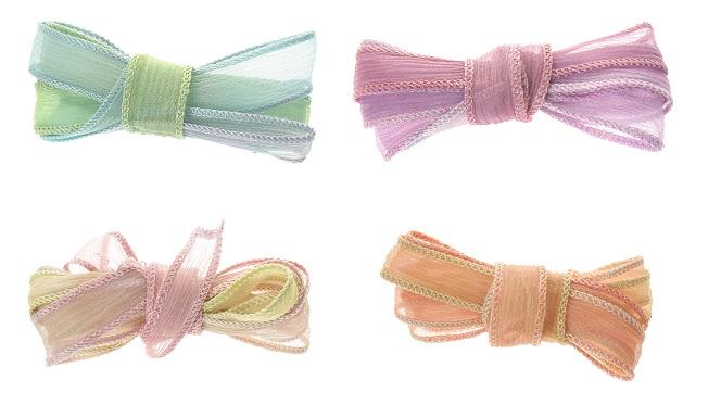 Bound Crinkle Chiffon Ribbon - Pastels