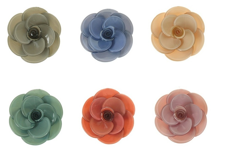 BIG BABY Small Rose Flower Hair Slide/Clip - Colour Set 2