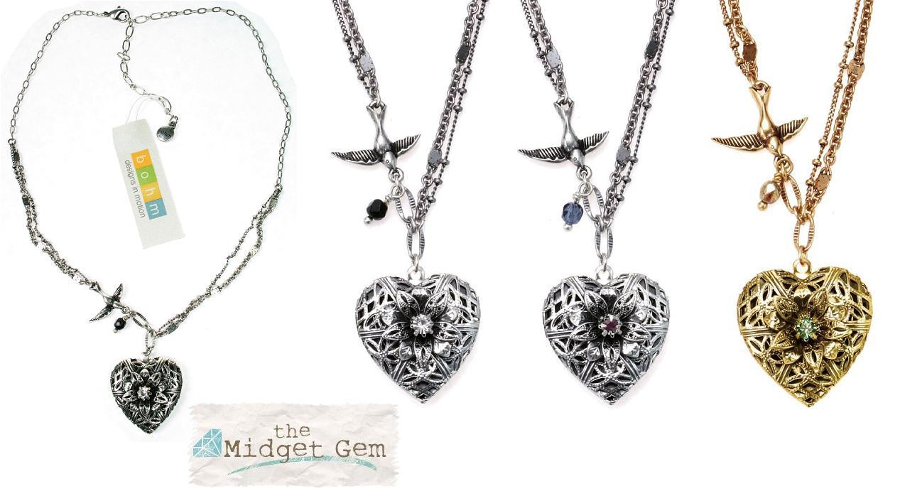 Bohm Bohemian Heart  Locket  Necklace