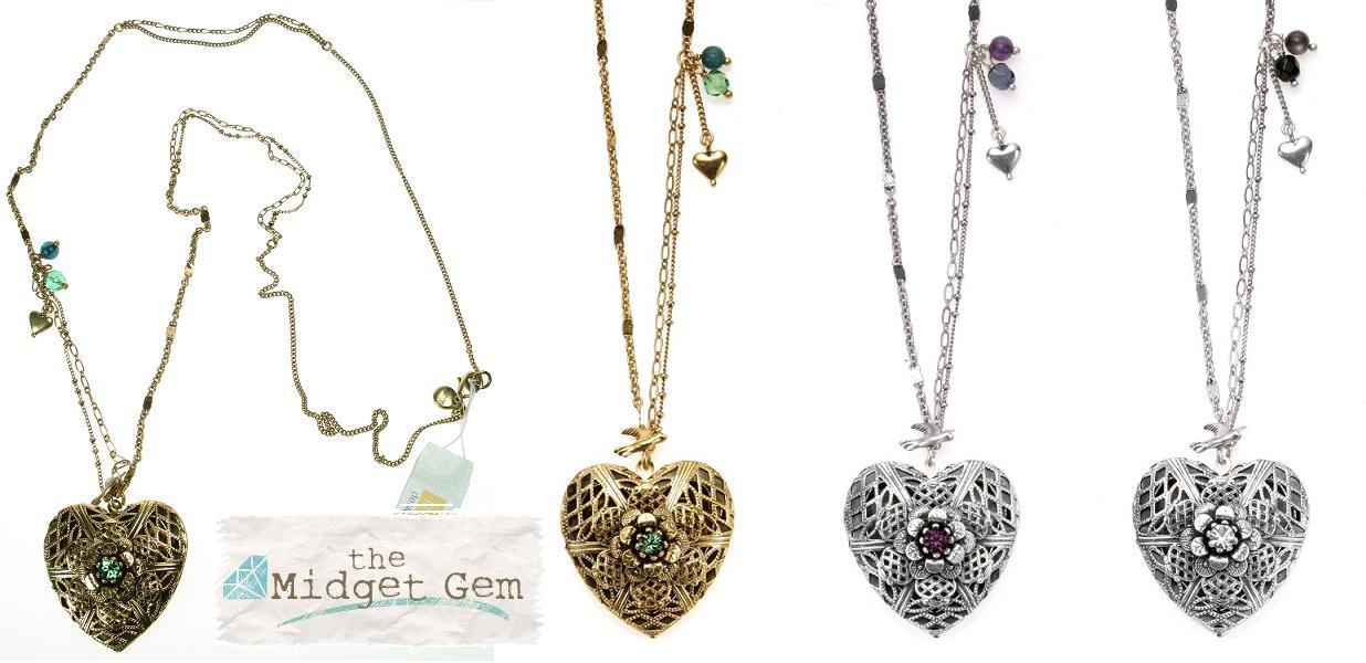 Bohm Bohemian Heart  Locket  Long Necklace