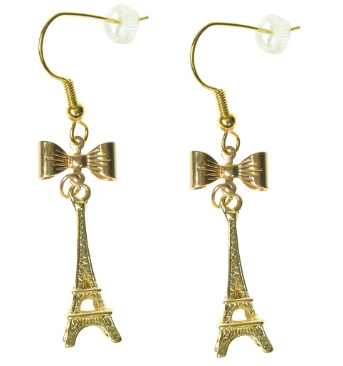 Maria Allen Eiffel Tower Gold Plate Earrings