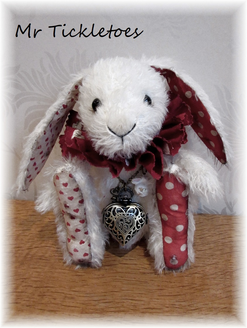 Mr Tickletoes - White Rabbit Who Will Never be Late - ADOPTED