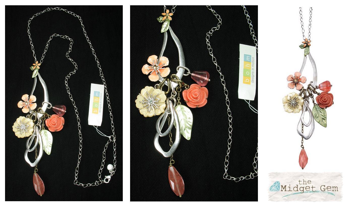 Bohm Floral Couture Flower Long Length Necklace