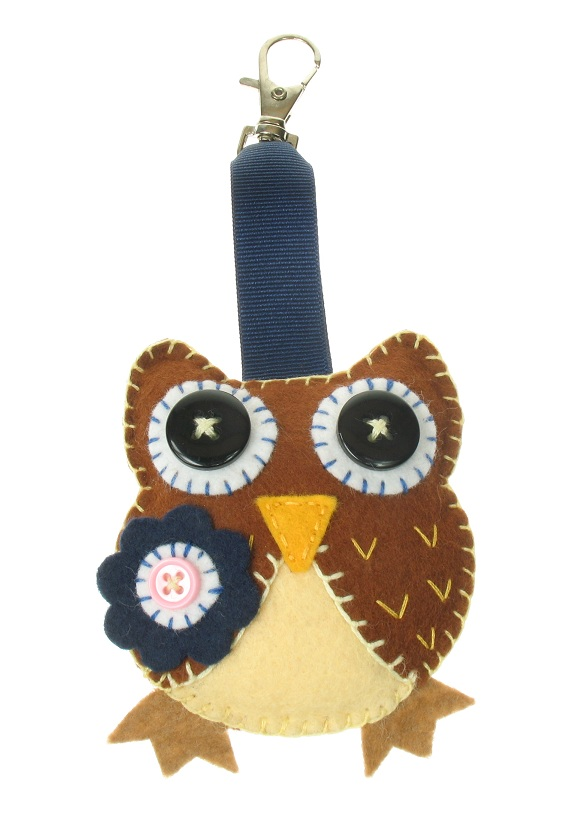 BOBBLELICIOUS - Hand Crafted Owl Hand Bag Charm Clip Key-Ring