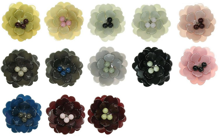 BIG BABY Peony Flower Hair Slide/Clip