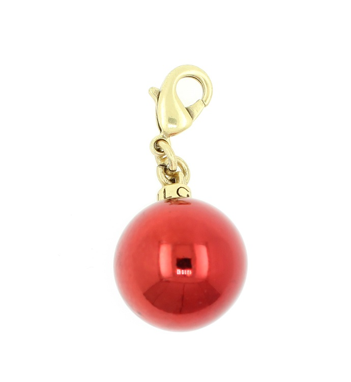 Pilgrim Christmas Bauble Charm Red/Gold