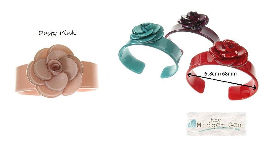 Slim Rose Dusty Pink Cuff  - BIG BABY Bangle
