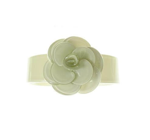 Slim Rose Pale Green Cuff - BIG BABY Bangle