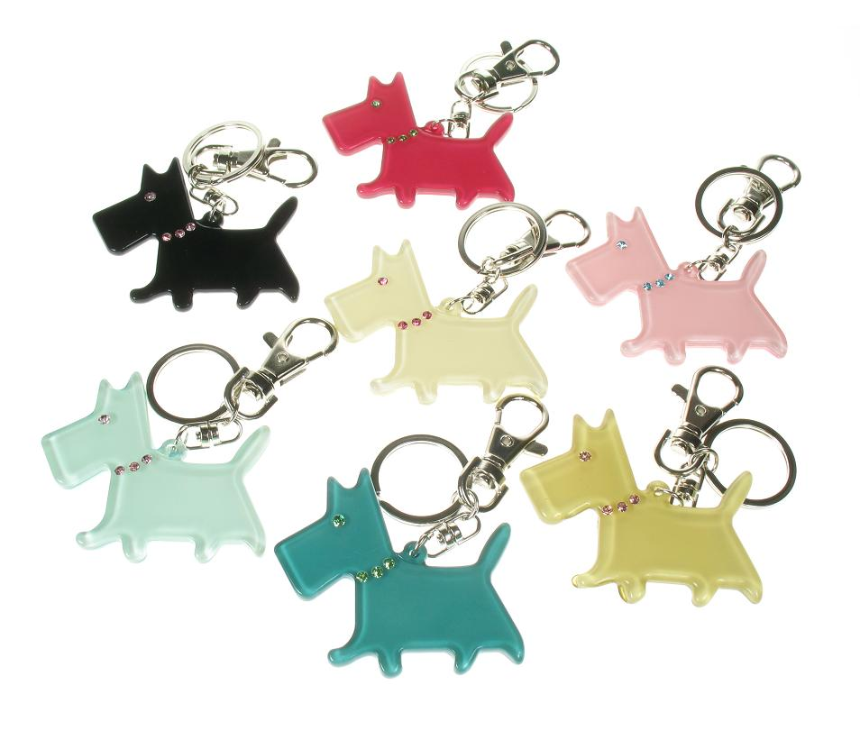 BIG BABY Scottie/Scotty Dog Keyring/ Bag Charm - Colour Set 2