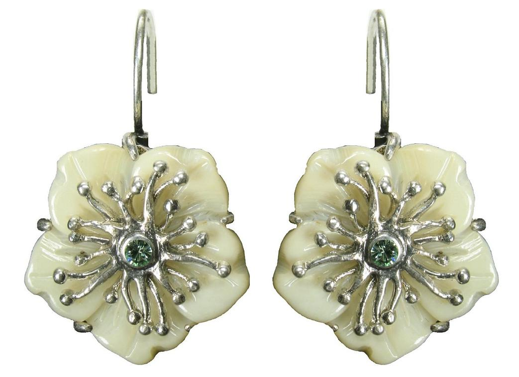 Bohm Floral Couture MOP Flower Earrings