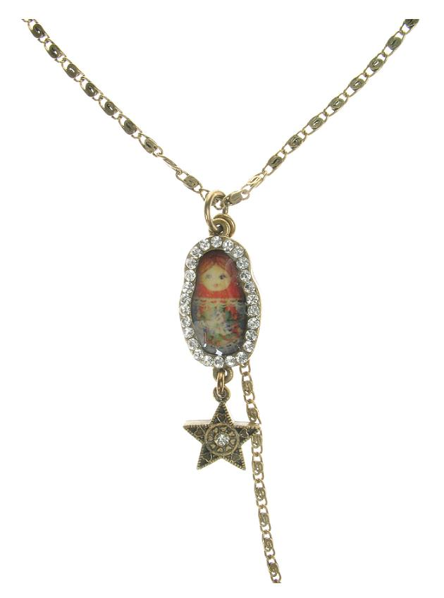 Single Russian Doll Necklace By PILGRIM
