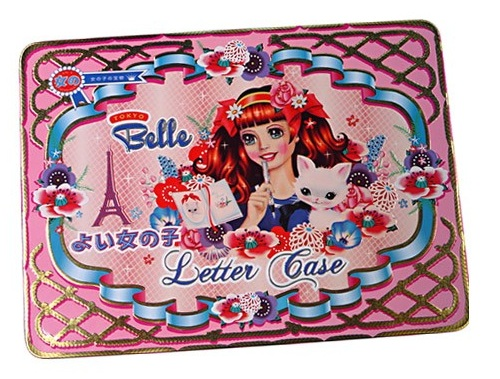 'Tokyo Belle' by Fiona Hewitt - Letter Case Tin & Contents (Pen, Stationery)