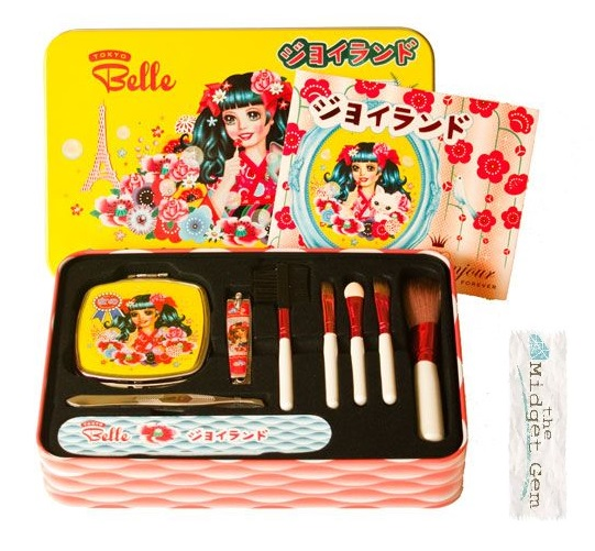 'Tokyo Belle' by Fiona Hewitt - Beauty Kit Tin & Contents (Nail Clipper, Make-up Brushes etc))