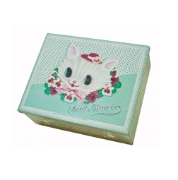 Fiona Hewitt Vintage Design 'Keep-Sake' White Kitten Tin
