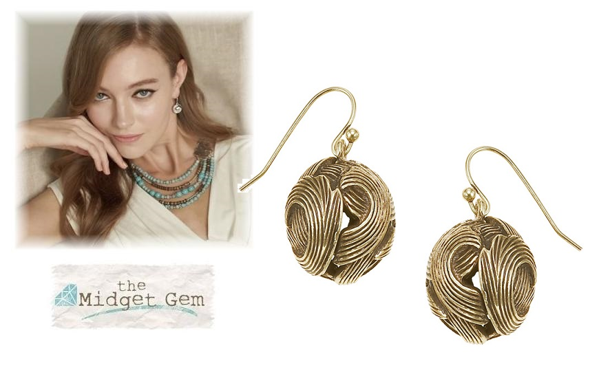 The Bohm Free Spirit Ball Earrings  - Burnished Gold Plate
